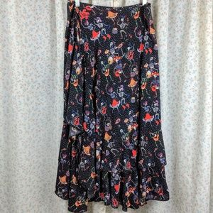 Dresses & Skirts - OAK Dia de Los Muertos Wrap Skirt